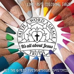 Lutheran art to print gifts for men or women to share faith word grace truth, Martin Luther rose seal, it's all about Jesus; Rose Coloring Pages, Free Coloring, Colouring, Reformation Sunday, Luther Rose, Sunday School Teacher, Communion Gifts, Lutheran, Printable Designs