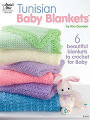 Tunisian Baby Blankets -- Any baby would love to be snuggled in one of these 6 soft Tunisian crochet blanket patterns.