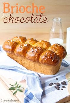Brioche with Thermomix Thermomix Bread, Thermomix Desserts, Cooking Bread, Cooking Recipes, Biscuit Bread, Pan Dulce, Bread And Pastries, Sweet Desserts, Chocolate Recipes