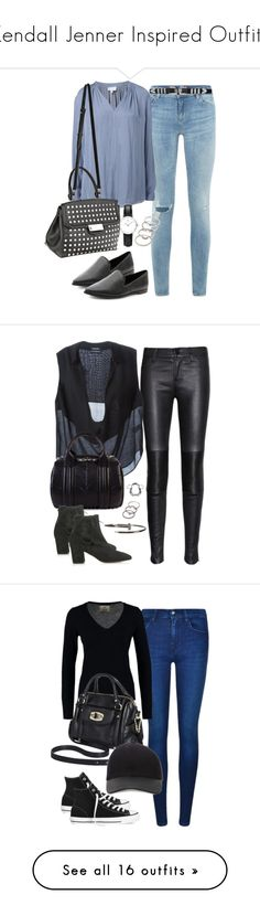 """""""Kendall Jenner Inspired Outfits"""" by hankristina ❤ liked on Polyvore featuring kendalljenner, kendalljennerinspired, KendallJennerInspiredOutfit, ModelLook, Denim & Supply by Ralph Lauren, Witchery, Alexander Wang, Daniel Wellington, Forever 21 and J Brand"""