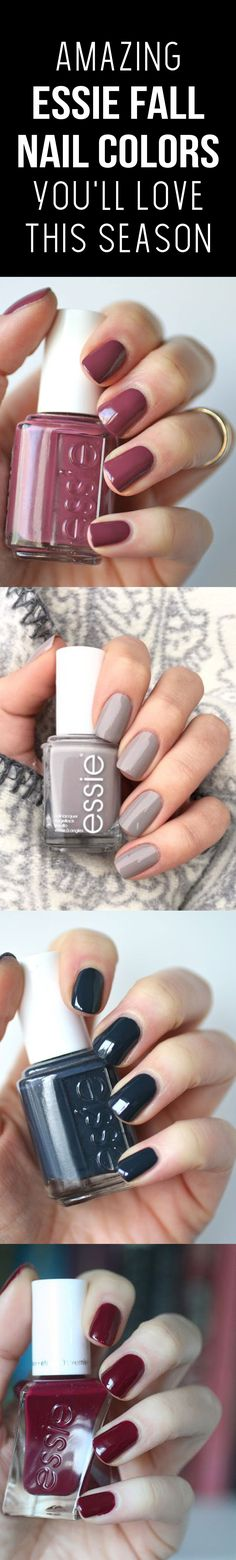 We were so excited when Essie dropped their new Fall collection, we just had to share some of our favorites with you. #3 Is our favorite! manicure, nail art, nail inspo, nail colors, nails. #beauty #essie #essiefallcollection #fall #fallnails