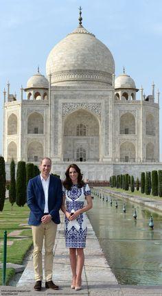 hrhduchesskate: Royal Tour 2016, Day 7, Taj Mahal, India, April 16, 2016-The Duke and Duchess of Cambridge