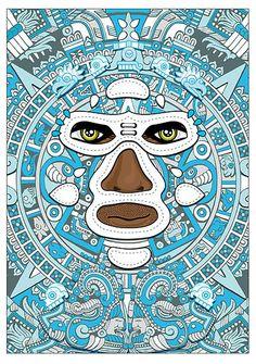 El luchador Azteca by vargasvisions