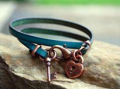 Melinda Orr Metal & Clay Jewelry Designs - Love the Key as the other end of the clasp