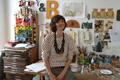 Adoriamo Beatrice Alemagna ...e il suo studio, non è un sogno?