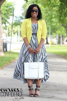 Curves and Confidence | A Miami Style Blogger: Printed Maxi Skirt or Midi Dress?