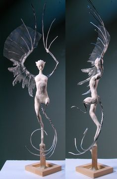 Magical and Surreal Sculptures: An Interview with Forest Rogers - Kunst Surrealism Sculpture, Art Sculpture, Wire Sculptures, Polymer Clay Sculptures, Sculpture Ideas, Animal Sculptures, Fantasy Creatures, Mythical Creatures, Fantasy Kunst
