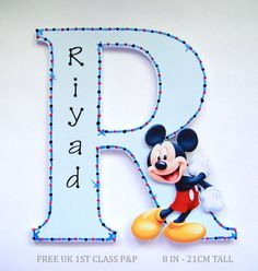 Mickey Mouse Personalised Letter Door Name Plaque