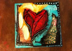 #Heart #painting by our very talented @Kathy Kromer #MichaelsStores