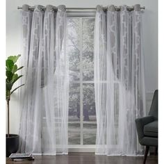 Shop ATI Home Alegra Thermal Woven Blackout Grommet Top Curtain Panel Pair – Overstock – 18590736 96 Inch Curtains, Sheer Curtain Panels, Home Curtains, Window Curtains, Curtains Living, Window Treatment Store, Window Treatments, Blackout Panels, Curtains