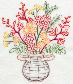 Machine Embroidery Designs at Embroidery Library! Silk Ribbon Embroidery, Vintage Embroidery, Embroidery Applique, Embroidery Stitches, Embroidery Cards, Needlepoint Patterns, Machine Embroidery Patterns, Lazy Daisy Stitch, Embroidery Techniques