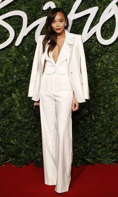 Pin for Later: This Week's Top 10 May Be the Sexiest Looks We've Seen All Year Ashley Madekwe Really, who knew a three-piece suit could look this chic?