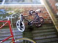 Vintage Sterling Silver Moveable Bicycle Charm by LyricalVintage, $23.00