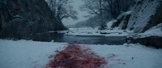 The Revenant - stills - Blood is on the snow