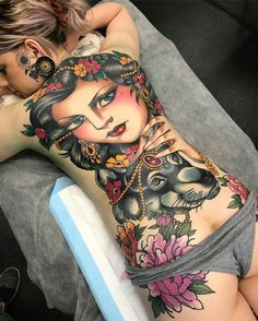 Caitlin's back piece...amazing