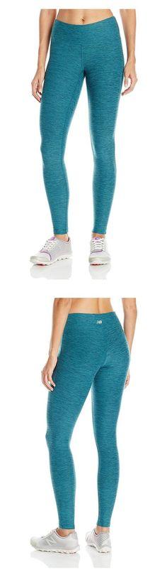 $39.99 - New Balance Women's Novelty Fabric Tights Tidepool #newbalance