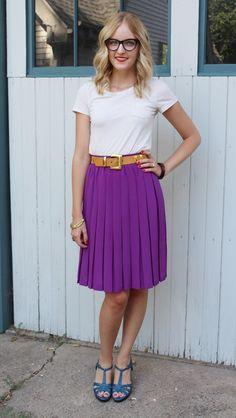 pleated skirt ~~  #beautyandbows