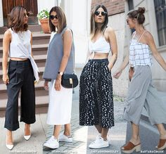 I still did not got bored of culottes trousers. How about you? (Stranamente) non mi sono ancora stancata dei pantaloni culottes. Voi? photos via: 1 | thistimetomorrow, theadorabletwo, thefashionmedl