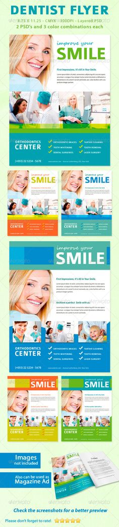 Dentist Flyer / Magazine Ad - Corporate Flyers