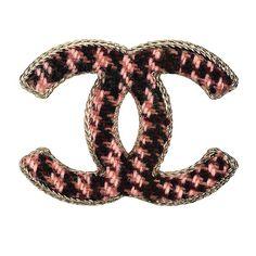 Chanel Tweed Brooch