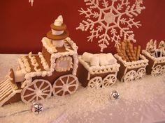 polar express gingerbread train