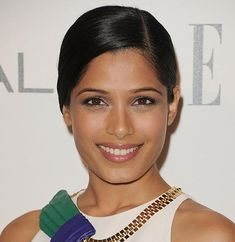 80 And More Updo Hairstyles For 2014: Freida Pinto Updos  #updos #hairstyles #updohairstyles