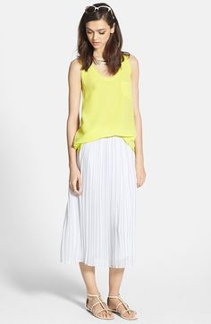 Joie Linen Tank & Silk Skirt  available at #Nordstrom