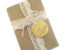 Rejoice Easter Yellow Ornament Gift Topper Gift Tie On by LiLaO, $6.00 for set of 6