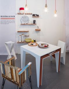 Independent design furnitures on swartlab space during Fuorisalone 2014