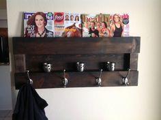 Moderno magazine coat rack by DelHutsonDesigns on Etsy, $99.00
