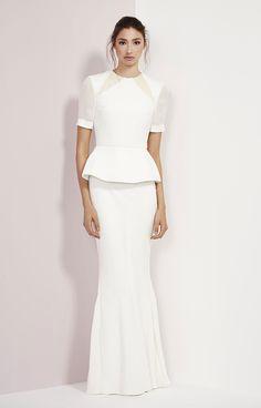 Rachel Gilbert Sansa // peplum gown V Peplum Wedding Dress, Peplum Gown, Modest Wedding Dresses, Bridal Dresses, Wedding Gowns, Dress Up, Bridesmaid Dresses, Peplum Dresses, Party Gowns