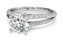 Double French-Set Diamond 'V' Engagement Ring with Surprise Diamonds – 2488   Ritani Wedding and Engagement Rings