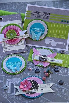 card/scrapbook embellishments by Magali