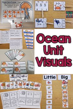 This ocean unit is full of visuals and hands on learning tasks that are perfect for students with disabilities, homeschoolers or students who benefit from hands on learning. This unit is especially good for elementary teachers, special education teachers, and speech therapists.