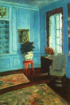 Winston S. Churchill - The Blue Sitting Room, Trent Park
