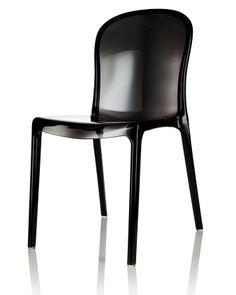 Svart Labradoren plaststol. Polykarbonat, plast, stol, köksstol, kök, matsalsstol. http://sweef.se/stolar/57-labradoren-stol-i-polykarbonat.html