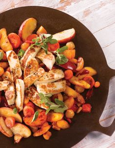 Apetit-reseptit - Lämmin juustosalaatti Muurikka-kasviksista BBQ