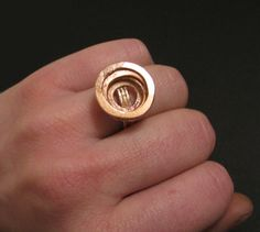 Dimple  Forged Copper Ring  - Handmade Copper Jewelry. $35.00, via Etsy.