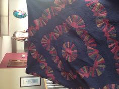 The first time I've quilted free motion feathers of my own design. Amish, Feathers, Quilting, Blanket, Bed, Birthday, Design, Blankets, Birthdays
