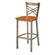 "Regal Bar Stool Seat Height: 30"", Upholstery: Cherry Wood, Finish: Clear"