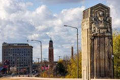 https://flic.kr/p/AbWeDm   Guardian more than a Bridge   Hope Memorial Bridge in Cleveland overlooking the Westside Market.