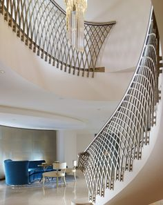 What a beautiful staircase - The-London-Magazine-Dorchester-Hotel