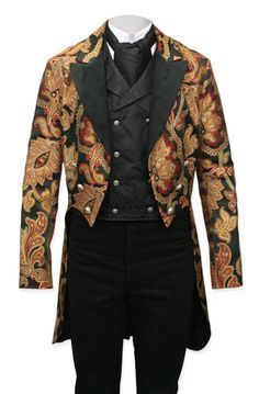 Vienna Brocade Tailcoat - Velvet Trim : Only to be worn while playing my Les Paul