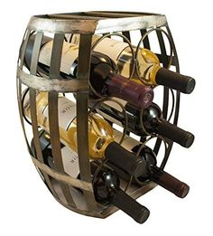 TheopWine Barrel Shaped 6 Bottle Wine Rack ** Continue to the product at the image link.  This link participates in Amazon Service LLC Associates Program, a program designed to let participant earn advertising fees by advertising and linking to Amazon.com.