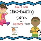 $ Use these Back-to-School Class-Building Cards with a Superhero Theme to get students up and moving! Your new students will get to know each other in a fun and interesting way as they ask each other questions from these engaging cards.
