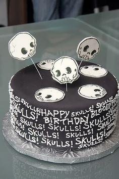 Cute skull cake