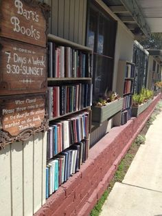 Bart's Books in Ojai. Outdoor bookstore