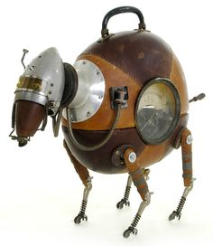 Belgian Stephane Halleux combines his fantasy and a remarkably great feeling for the perfect mix of materials to a staggering collection of adorable Steampunk sculptures. Used leather, some car par...