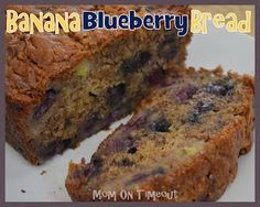 Banana Blueberry Bread - Oh my goodness! It's like Blueberry Muffins and Banana Bread all rolled into one!