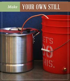 Would you really like to know how to make your own still? A DIY still certainly has its uses. It's a great tool you can make for self-reliance off the grid. Moonshine Still Plans, How To Make Moonshine, Wine And Liquor, Wine And Beer, Off The Grid, Beer Brewing, Home Brewing, Alcohol Still, Homemade Liquor